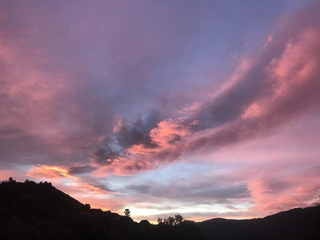 Carmel Valley Sunset-Carmel Valley, CA. Sunset over mountains